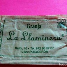 Sobres de azúcar de colección: SOBRE AZÚCAR - GRANJA LA LLAMINERA - PUIGCERDÀ - GIRONA - (VER FOTOS) - . Lote 194520160