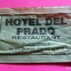 Sobres de azúcar de colección: SOBRE AZÚCAR - HOTEL DEL PRADO - PUIGCERDÀ - GIRONA - (VER FOTOS) - . Lote 194524740