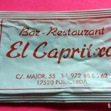 Sobres de azúcar de colección: SOBRE AZÚCAR - BAR RESTAURANT EL CAPRITXO - PUIGCERDÀ - GIRONA - (VER FOTOS) - . Lote 194525242