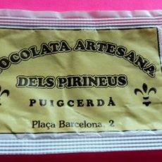 Sobres de azúcar de colección: SOBRE AZÚCAR - XOCOLATA ARTESANA DELS PIRINEUS - PUIGCERDÀ - GIRONA - (VER FOTOS) - . Lote 194525337