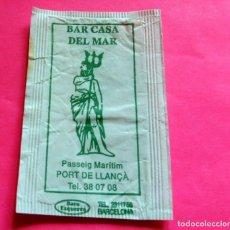 Sobres de azúcar de colección: SOBRE DE AZÚCAR - BAR CASA DEL MAR - PORT DE LLANÇA - GIRONA - (VER FOTOS) - . Lote 194616308