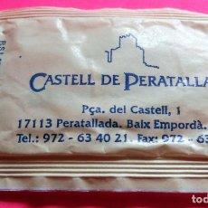 Sobres de azúcar de colección: SOBRE DE AZÚCAR - HOTEL RESTAURANT CASTELL DE PERATALLADA - GIRONA - (VER FOTOS) - . Lote 194616556