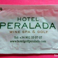 Sobres de azúcar de colección: SOBRE DE AZÚCAR - HOTEL PERALADA - PERALADA - GIRONA - (VER FOTOS) - . Lote 194616916