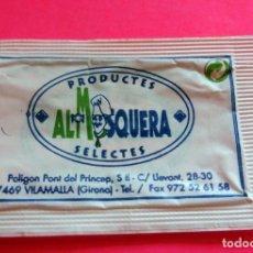 Sobres de azúcar de colección: SOBRE DE AZÚCAR - PRODUCTES SELECTES ALMOSQUERA - VILADAMAT - GIRONA - (VER FOTOS) - VACÍOS. Lote 194749260