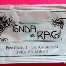 Sobres de azúcar de colección: SOBRE DE AZÚCAR - FONDA DEL RACÓ - VILADRAU - GIRONA - (VER FOTOS) - VACÍOS. Lote 194749353