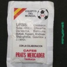 Sobres de azúcar de colección: SOBRE DE AZÚCAR SERIE EQUIPOS DEL MUNDIAL 82 - URSS - PRATS MERCADER. AESA, 10 GR.. Lote 194760145