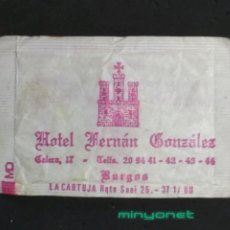 Sobres de azúcar de colección: SOBRE DE AZÚCAR DEL HOTEL FERNAN GONZÁLEZ, DE BURGOS. LA CARTUJA, 10 GR.. Lote 194760615