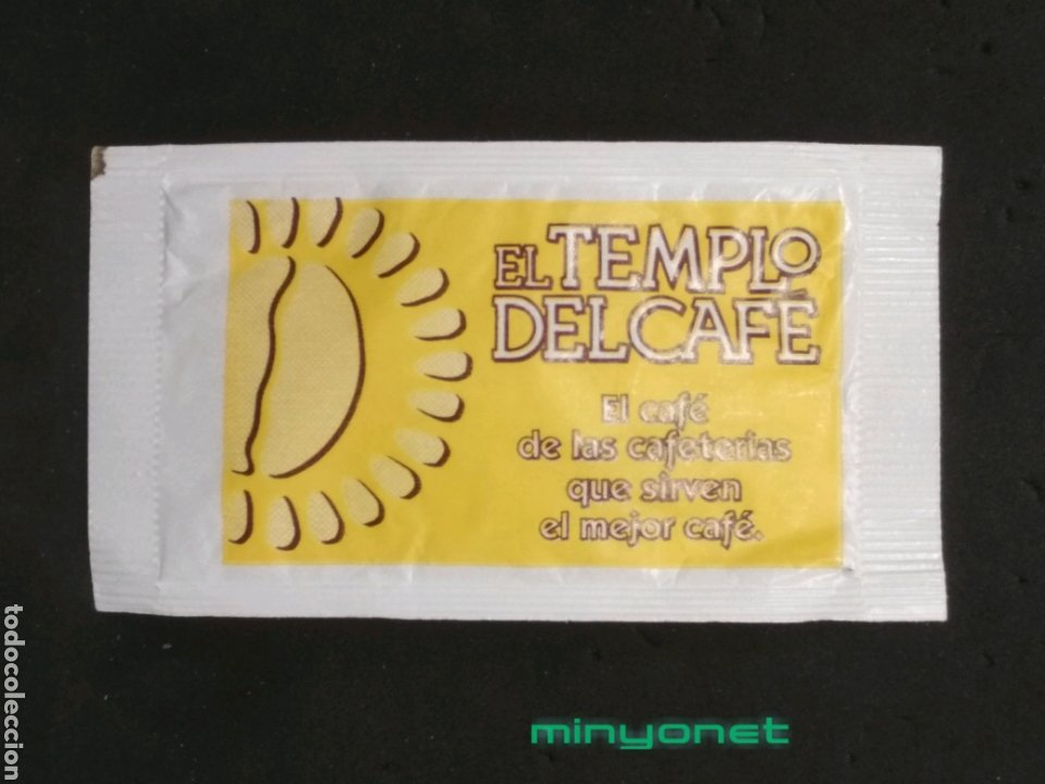 SOBRE DE AZÚCAR DE EL TEMPLO DEL CAFÉ. A. PRIETO, 8 GR. (Coleccionismos - Sobres de Azúcar)