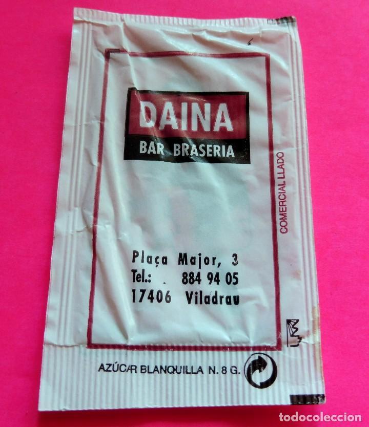 SOBRE DE AZÚCAR - DAINA BAR BRASERIA - VILADRAU - GIRONA - (VER FOTOS) - VACÍOS (Coleccionismos - Sobres de Azúcar)