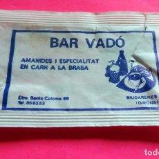 Sobres de azúcar de colección: SOBRE DE AZÚCAR - BAR VADÓ - RIUDARENES - GIRONA - VER FOTOS - VACÍOS. Lote 195023407