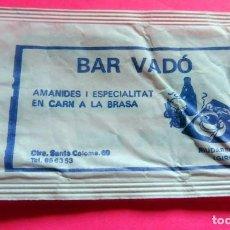 Sobres de azúcar de colección: SOBRE DE AZÚCAR - BAR VADÓ - RIUDARENES - GIRONA - VER FOTOS - VACÍOS. Lote 195023458