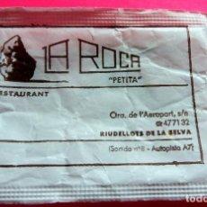 Sobres de azúcar de colección: SOBRE DE AZÚCAR - RESTAURANT LA ROCA PETITA - RIUDELLOTS DE LA SELVA - GIRONA - VER FOTOS - VACÍOS. Lote 195023918