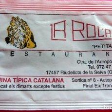 Sobres de azúcar de colección: SOBRE DE AZÚCAR - RESTAURANT LA ROCA PETITA - RIUDELLOTS DE LA SELVA - GIRONA - VER FOTOS - VACÍOS. Lote 195023967