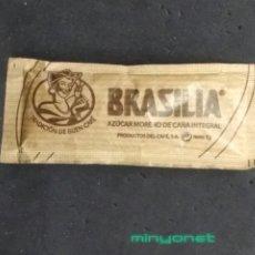 Sobres de azúcar de colección: SOBRE DE AZÚCAR MORENO DE CAFÉS BRASILIA. PRODUCTOS DEL CAFÉ, 7 GR.. Lote 195088792