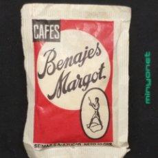 Sobres de azúcar de colección: SOBRE DE AZÚCAR DE CAFÉS BENAJES MARGOT. SEIMAP, 10 GR.. Lote 195090757