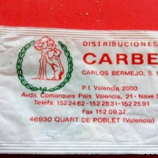 Sobres de azúcar de colección: SOBRE DE AZÚCAR - DISTRIBUCIONES CARIBE - 46930 QUART DE POBLET - VALENCIA - VACIOS. Lote 195238063