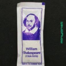Sobres de azúcar de colección: SOBRE DE AZÚCAR SERIE PERSONAJES CÉLEBRES - WILLIAM SHAKESPEARE. RAMPE, 8 GR.. Lote 195254998