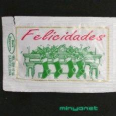Sobres de azúcar de colección: SOBRE DE AZÚCAR SERIE NAVIDAD - FELICIDADES - FELICES PASCUAS. BARA EZQUERRA, 8 GR.. Lote 195255593