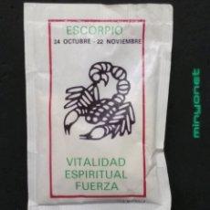 Sobres de azúcar de colección: SOBRE DE AZÚCAR SERIE HORÓSCOPOS - ESCORPIO. BRASILIA, IND. BOLSERA, 10 GR.. Lote 195256172