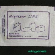 Sobres de azúcar de colección: SOBRE DE AZÚCAR DE MAGATZEM LIMA DE ANDORRA - CAFÉ DELTA. BARA EZQUERRA, 10 GR.. Lote 195361292