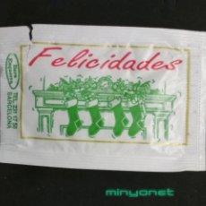 Sobres de azúcar de colección: SOBRE DE AZÚCAR SERIE NAVIDAD - FELICIDADES - PEACE ON EARTH. BARA EZQUERRA, 8 GR.. Lote 195361823