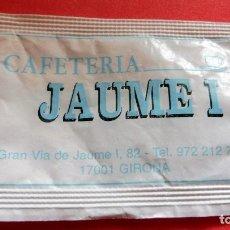 Sobres de azúcar de colección: SOBRE DE AZÚCAR - CAFETERÍA JAUME I - GIRONA. Lote 195431116