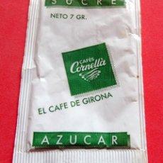 Sobres de azúcar de colección: SOBRE DE AZÚCAR - GIRONA - CORNELLA EL CAFÉ DE GIRONA. Lote 195485647