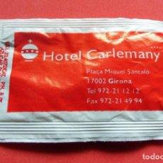Sobres de azúcar de colección: SOBRE DE AZÚCAR - GIRONA - HOTEL CARLEMANY. Lote 195485797