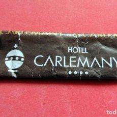 Sobres de azúcar de colección: SOBRE DE AZÚCAR - GIRONA - HOTEL CARLEMANY. Lote 195485808