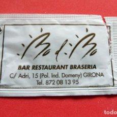 Sobres de azúcar de colección: SOBRE DE AZÚCAR - GIRONA - RESTAURANT BO DE BO. Lote 195486001