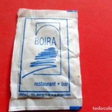 Sobres de azúcar de colección: SOBRE DE AZÚCAR - GIRONA - RESTAURANT BOIRA. Lote 195486191