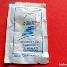 Sobres de azúcar de colección: SOBRE DE AZÚCAR - GIRONA - RESTAURANT BOIRA. Lote 195486208
