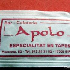 Sobres de azúcar de colección: SOBRE DE AZÚCAR - GIRONA - BAR CAFETERÍA APOLO. Lote 195486223