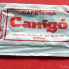 Sobres de azúcar de colección: SOBRE DE AZÚCAR - GIRONA - CAFETERÍA CANIGÓ. Lote 195486650