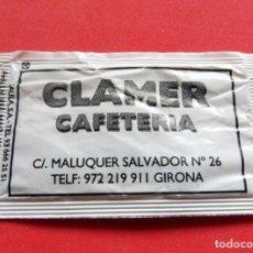 Sobres de azúcar de colección: SOBRE DE AZÚCAR - GIRONA - CLAMER CAFETERÍA. Lote 195486723