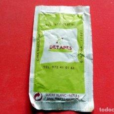 Sobres de azúcar de colección: SOBRE DE AZÚCAR - GIRONA - DETAPES. Lote 195487025