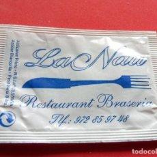 Sobres de azúcar de colección: SOBRE DE AZÚCAR - GIRONA - MAÇANET DE LA SELVA - RESTAURANT LA NAU. Lote 195488778