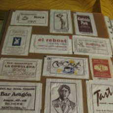 Sobres de azúcar de colección: COLECCIÓN MÁS DE 700 AZUCARILLOS SOBRES DE AZUCAR VACIOS ESTABLECIMIENTOS DE RESTAURACION CATALANES. Lote 196128701