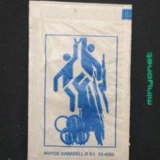Bustine di zucchero di collezione: SOBRE DE AZÚCAR SERIE DEPORTES OLÍMPICOS - BALONCESTO - CICLISMO. MAYSE, 8 GR.. Lote 197707021