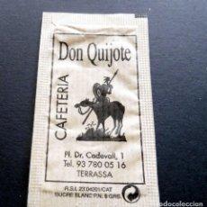 Bustine di zucchero di collezione: SOBRE DE AZÚCAR - CAFETERÍA DON QUIJOTE - TERRASSA - BARCELONA. Lote 197782402
