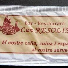 Bustine di zucchero di collezione: SOBRE DE AZÚCAR - BAR RESTAURANT CAN RESOLIS - BARCELONA. Lote 197782535
