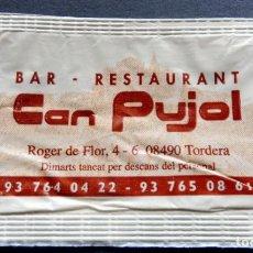 Bustine di zucchero di collezione: SOBRE DE AZÚCAR - RESTAURANT PUJOL - TORDERA - BARCELONA. Lote 197782668