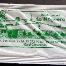 Bustine di zucchero di collezione: SOBRE DE AZÚCAR - RESTAURANT LA NOGUERA - VALLROMANES - BARCELONA. Lote 197783006