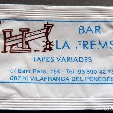 Bustine di zucchero di collezione: SOBRE DE AZÚCAR - BAR LA PREMSA - VILAFRANCA DEL PENEDÈS - BARCELONA. Lote 197783875