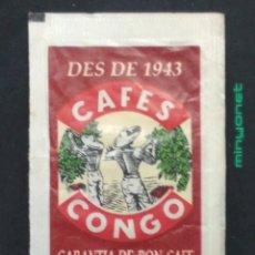 Bustine di zucchero di collezione: SOBRE DE AZÚCAR DE CAFÉS CONGO. VIPASA, 8 GR.. Lote 197795561