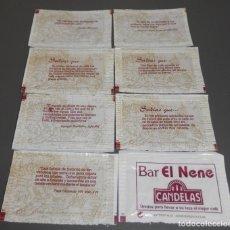 Sobres de azúcar de colección: SERIE DE SOBRES DE AZUCAR - BAR NENE. Lote 198249802