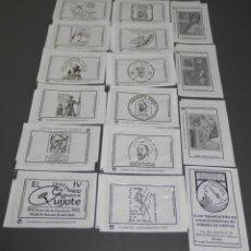 Sobres de azúcar de colección: SERIE DE SOBRES DE AZUCAR - D. QUIJOTE DE LA MANCHA. Lote 198250226