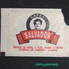 Sobres de azúcar de colección: SOBRE DE AZÚCAR DE CAFÉS SALVADOR. LUTOR, 10 GR.. Lote 198289562