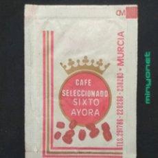 Bustine di zucchero di collezione: SOBRE DE AZÚCAR DE CAFÉ SIXTO AYORA. ASUNCION LÓPEZ, 10 GR.. Lote 198290503