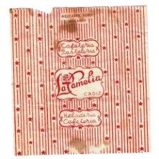 Sobres de azúcar de colección: AZUCAR CAFETERIA LA CAMELIA AÑOS 50 - HELADERIA PASTELERIA - DE AZUCARES SORO ALICANTE - ESTUCHADOS . Lote 198474961